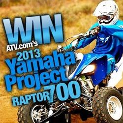 Win a Yamaha Raptor 700    Enter Here: http://free4him.ca/sweepstakes/win-a-yamaha-raptor-700/