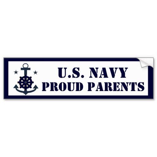 Navy proud parents bumper sticker