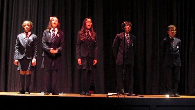 Remembrance Day Assembly 2012 - Grade Six Students Perform 'Imagine'