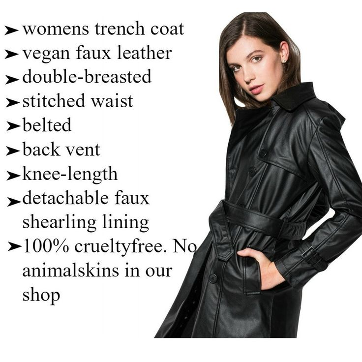 PREORDER 30% OFF:'Irene' Vegan Leather Trench Coat