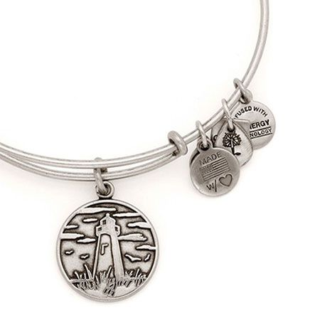 Alex and Ani Lighthouse Expandable Wire Bangle Russian Silver. Donates to Lymphoma #cancer #alexandani. Got this one!