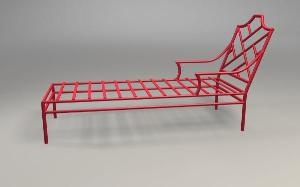 Chinese Chippendale Chaise Lounge- For chic poolside lounging! #wellappointedhouse.comgarden
