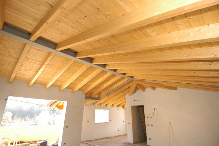 solaio tetto legno acciaio