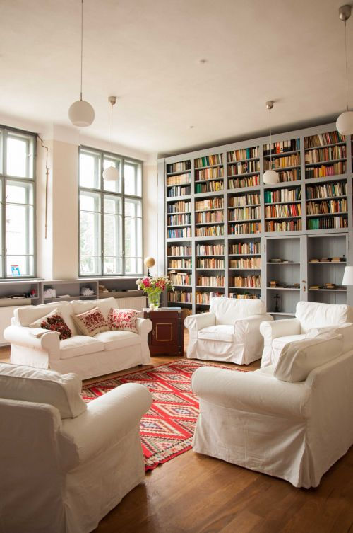 Beautiful library in former Saxon School @Cincsor.Transylvania.Guesthouses