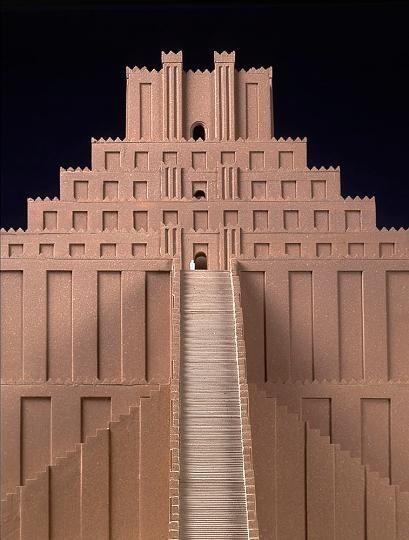 Rekonstruktion der Ziqqurat von Babylon – Modell nach Hansjörg Schmid (1995)