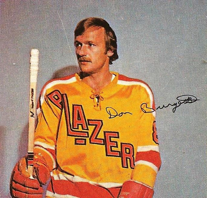 Don Burgess played 446 games in the World Hockey Association scoring 107 career goals.
