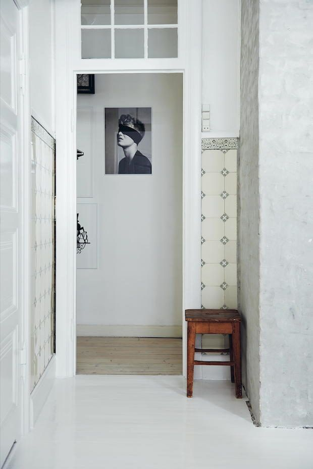 Designer Kristina Dam's hallway. Photo taken from Chic Boutiquers at Home by Ellie Tennant, photography by James Gardiner, published by Ryland Peters & Small.