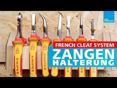 Wandhalterung für Zangen jeder Art /// French Cleat System Zangenhalter // Werkzeug Halter - YouTube