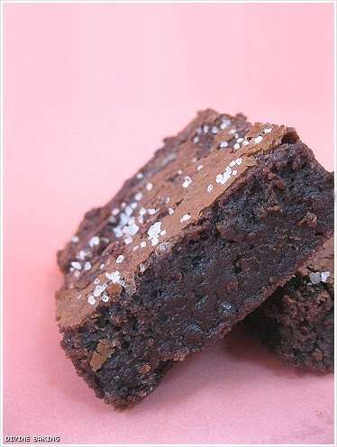 Sweet and Salty Brownie Recipe found on Buns In My Oven originally ...