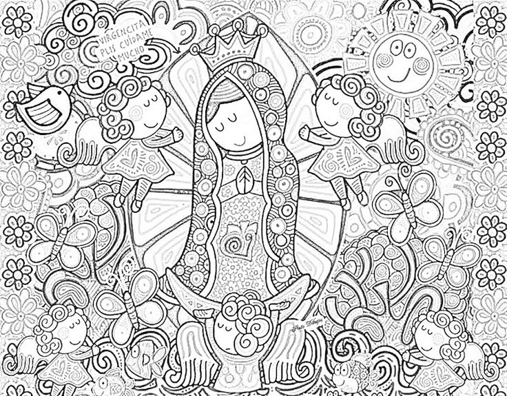 find this pin and more on la virgen de guadalupe modern virgin of guadalupe coloring pages