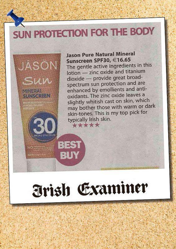 Irish Examiner Jason SPF | wholefoods.ie
