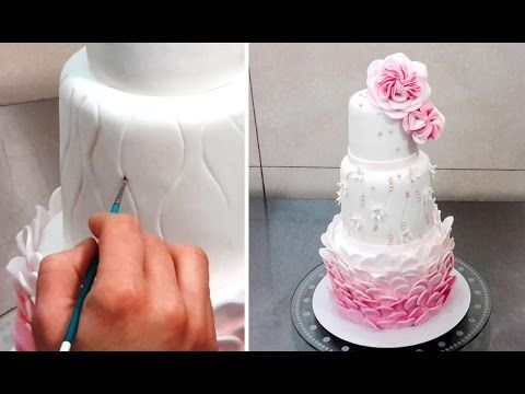 Wedding Cake Decorating Idea by CakesStepbyStep