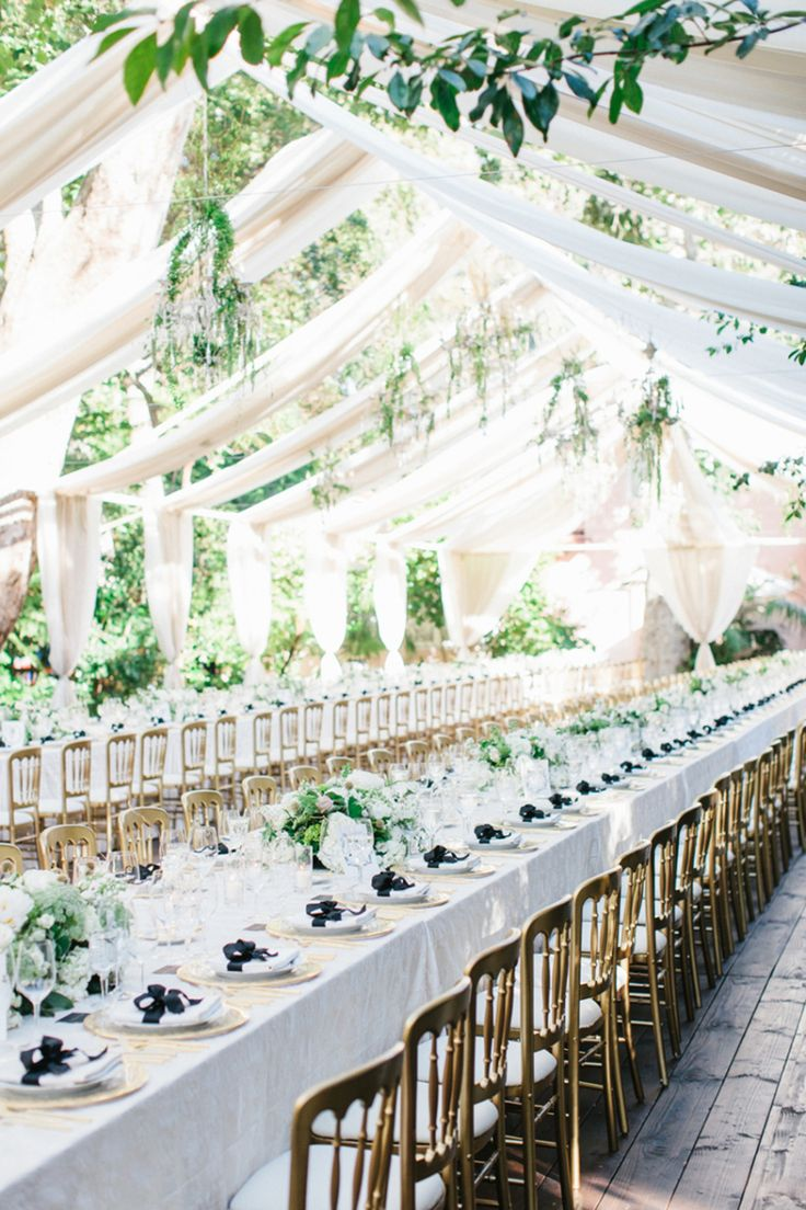 Elegant outdoor Bel-Air wedding decor: Photography + Cinematography: Braedon Photography - braedonphotography.com   Read More on SMP: http://www.stylemepretty.com/california-weddings/2016/10/14/glamorous-bel-air-hotel-wedding/