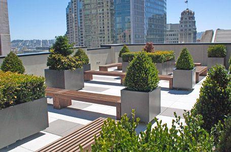 public art space rooftop gardern