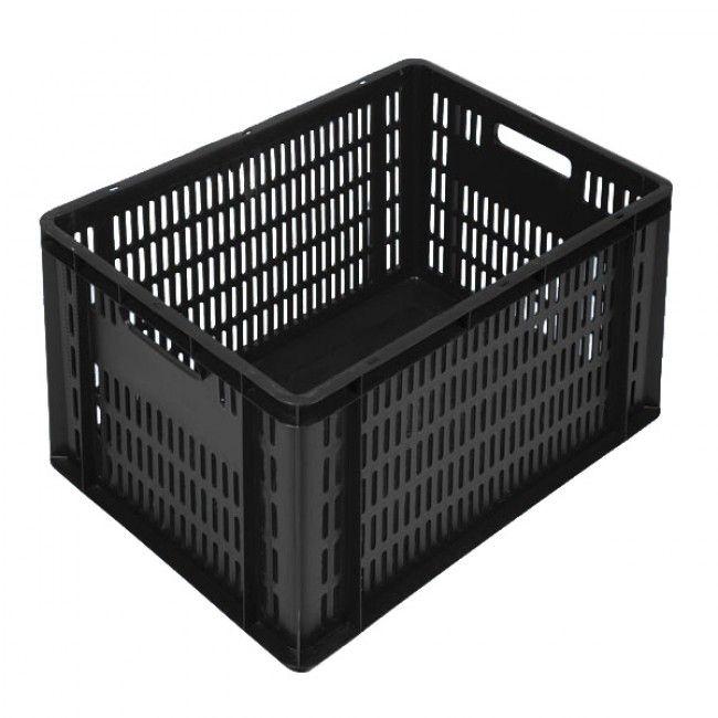 Caisse plastique maraicher - Coloris noir - 2