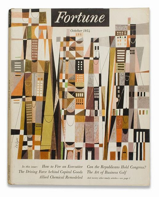 Fortune cover: Oct. 1954 by S. Neil Fujita