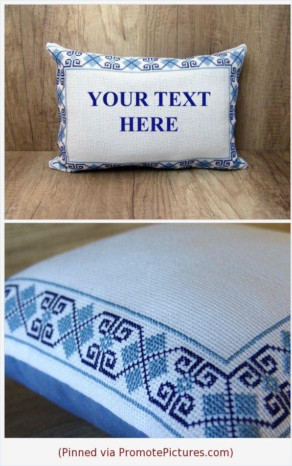 custom cross stitch pillow cover
