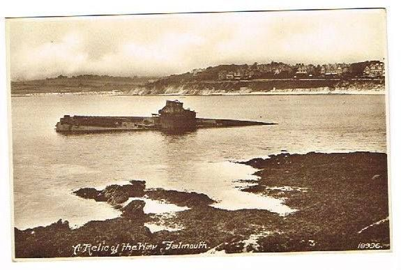 WORLD WAR I | Cornwall: 'German submarine wreck at Castle Beach, Falmouth in the 1920s'     ✫ღ⊰n