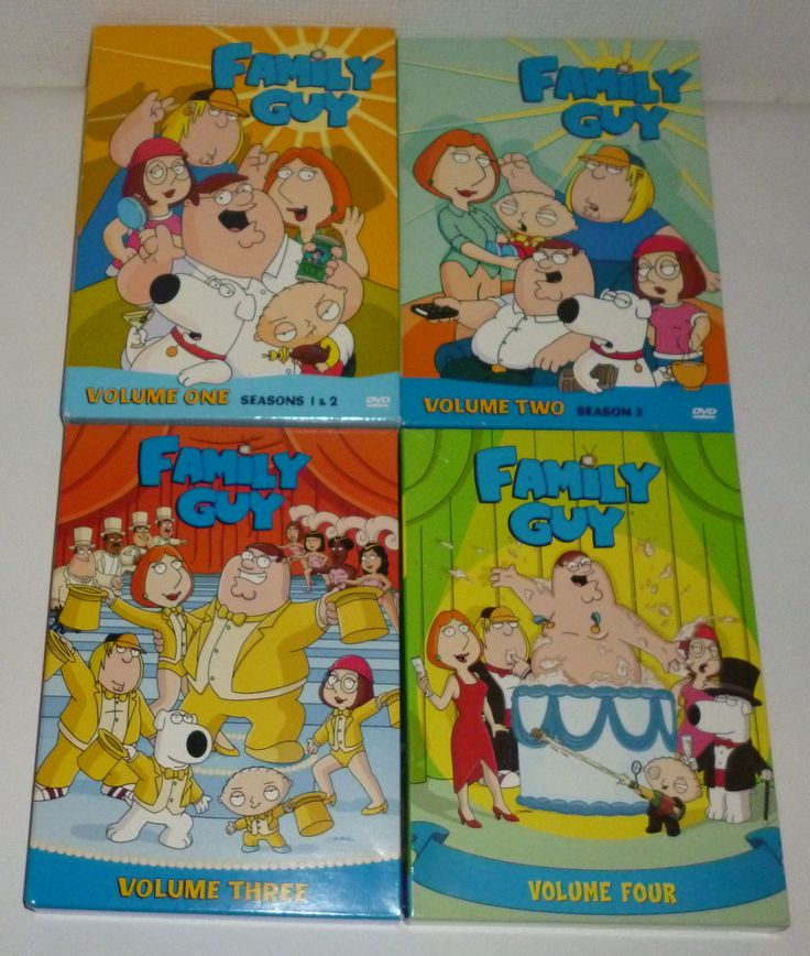 Lot Of 4 Family Guy TV Show Seasons Dvd Movies
