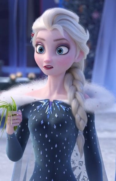 Queen Elsa in the new Frozen short to be released later this year - Olaf and Sven go in search of holiday traditions for Elsa and Anna