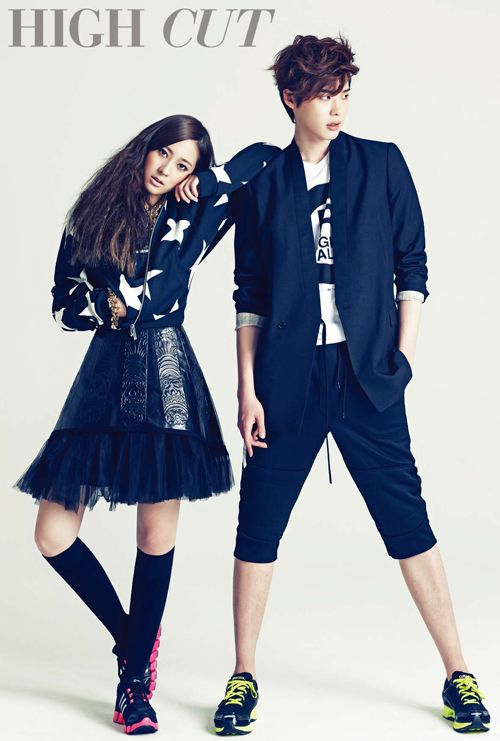 Lee Jong Suk and Krystal pair up for 'High Cut' #allkpop #fashion