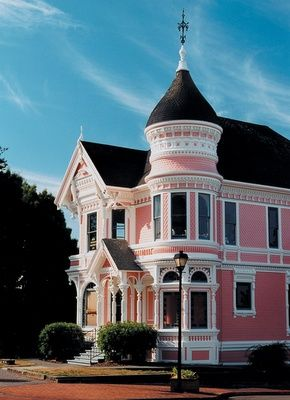 Image result for houses with pink shutters