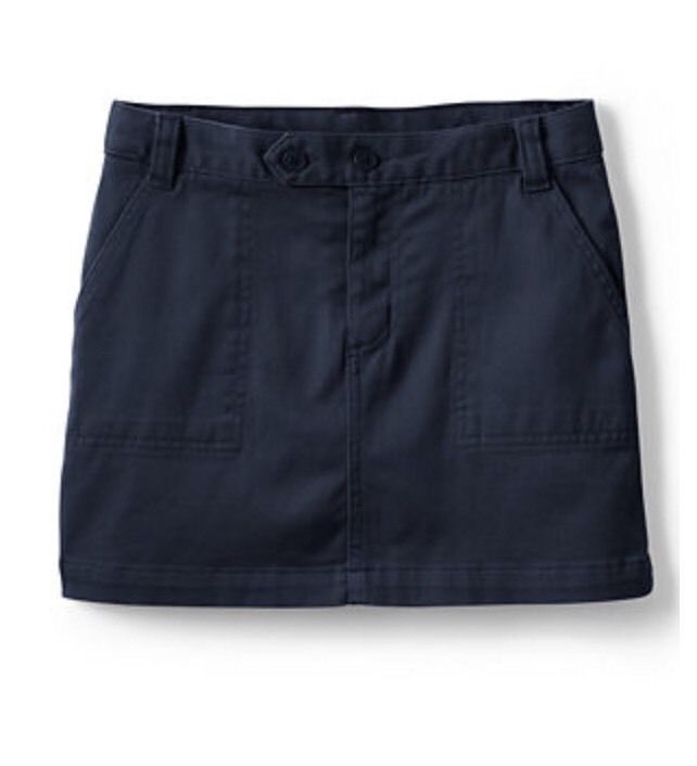 New LANDS' END Girl Uniform Size: 6X Navy Blue Chino Skort #LandsEnd #SkirtSkort