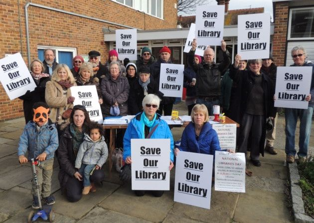 Kent Feb 2015: protests against move to transfer libraries to a Trust