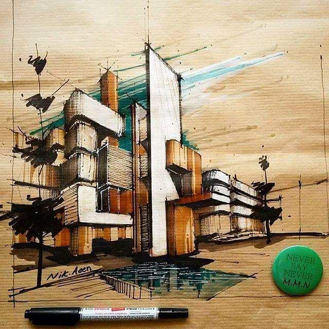Beautiful Architectural Sketch