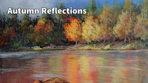 How to Draw Autumn Reflections in Water in Pastel — Online Art Lessons