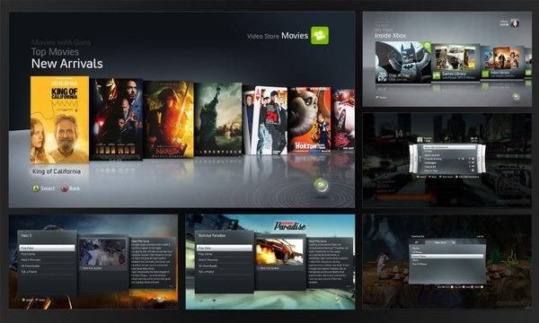 "Xbox 360 Dashboard UI ""NXE"" by Rowland Brown, via Behance"