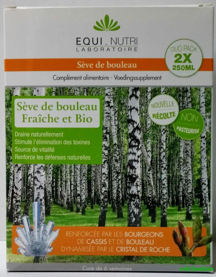 EQUI-NUTRI – SEVE DE BOULEAU FRAICHE ET BIO non pasteurisé 2 X 250 ml – CURE DE