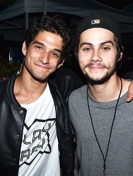 Teen Wolf stars and best buds Tyler Posey and Dylan O'Brien backstage at the 2015 Fandom Awards in San Diego, California.