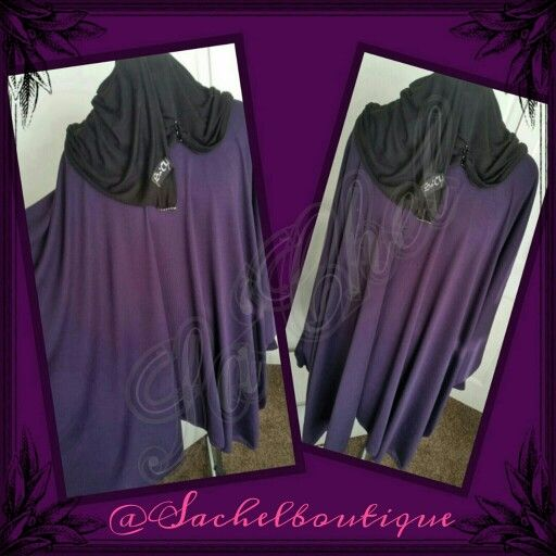 Sa'Chel purple light woolen tunic perfect for the spring weather over ur abaya.