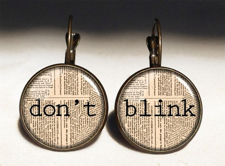 DOCTOR WHO - DON'T BLINK Big Earrings, 0203ERB from EgginEgg by DaWanda.com