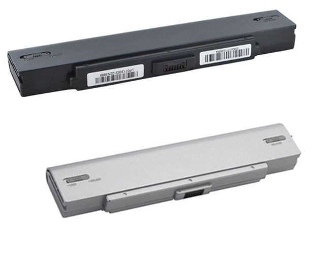 Shop New Silver/Black Battery For Sony VAIO VGN-CR Laptops