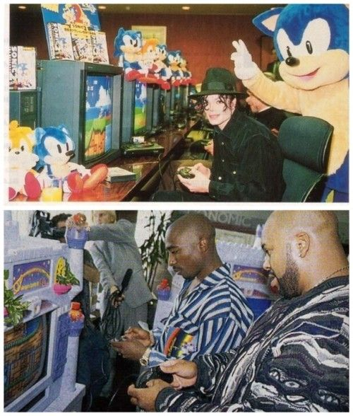 Sonic Mania is released today.Here's Michael Jackson and Tupac...  https://68.media.tumblr.com/94d9174f41604832754960b5a83d41ae/tumblr_ouql2y9Cs51uqxjmao1_500.jpg