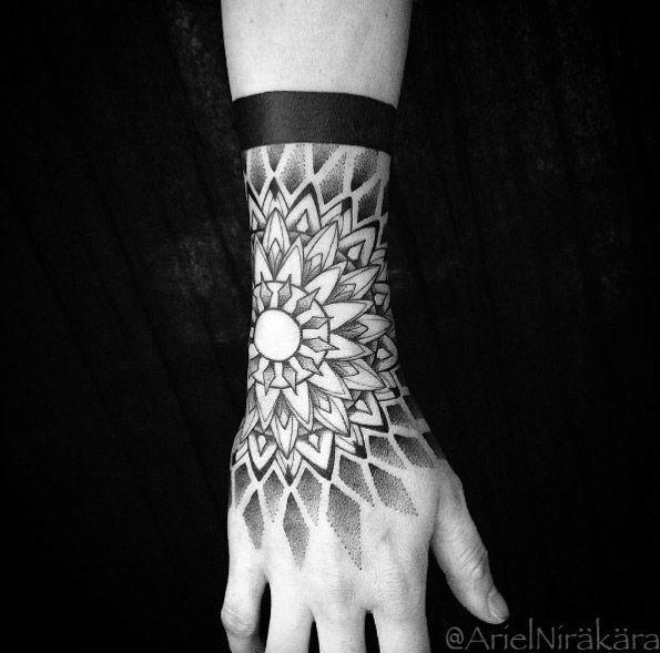 Mandala Tattoo Design 40 Mesmerizing Dotwork Mandala Tattoo Designs Mandala Tattoo Design In 2020 Mandala Hand Tattoos Mandala Tattoo Design Cuff Tattoo