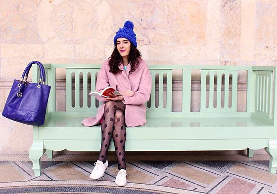 Get this look: http://lb.nu/look/8592133  More looks by Maeva: http://lb.nu/trendmae  Items in this look:  Primark Coat, Dresslink Tights   #classic #minimal #romantic #pastel #cottoncandy #candy #sweet #pink #pinkcoat