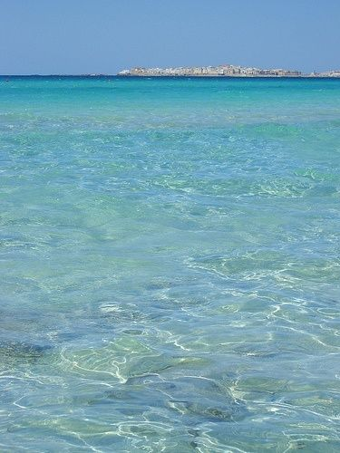 Puglia, where the sea is always this clear and blue.