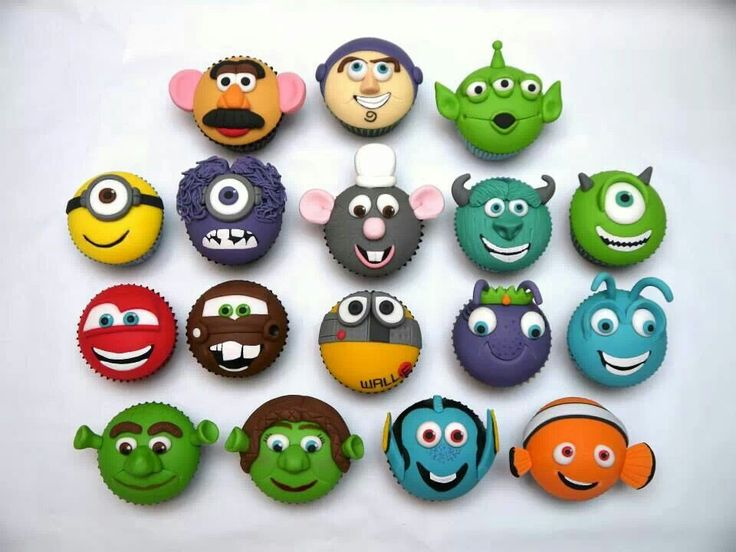 @Jesse Blackwell Cupcakes I like these, the mike and cars and minion