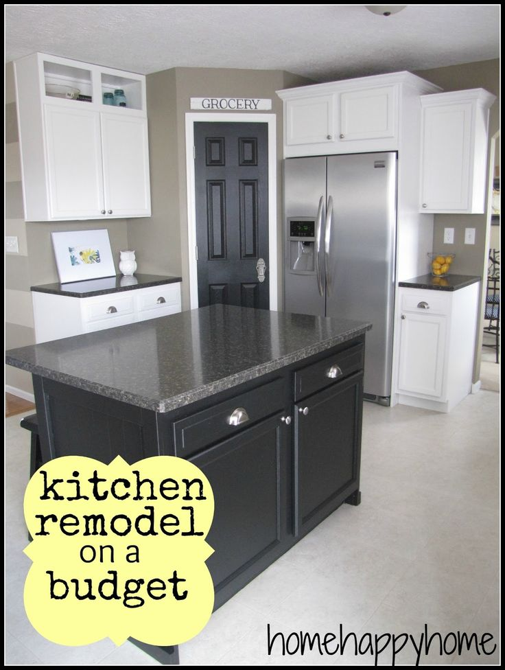 Do not like the black, but I GREAT example of staggering prefab cabinets and adding molding and also how to frame out a corner pantry. //home happy home: Kitchen reveal