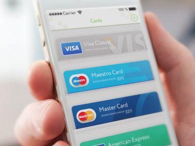 Brilliant Card-based UI Designs for Inspiration - Credit Cards in Pocket