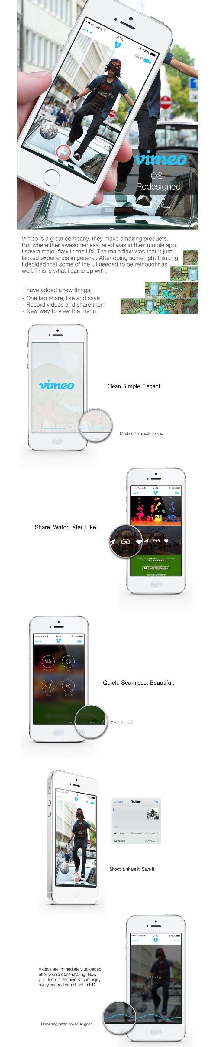 Vimeo iOS7 Redesign