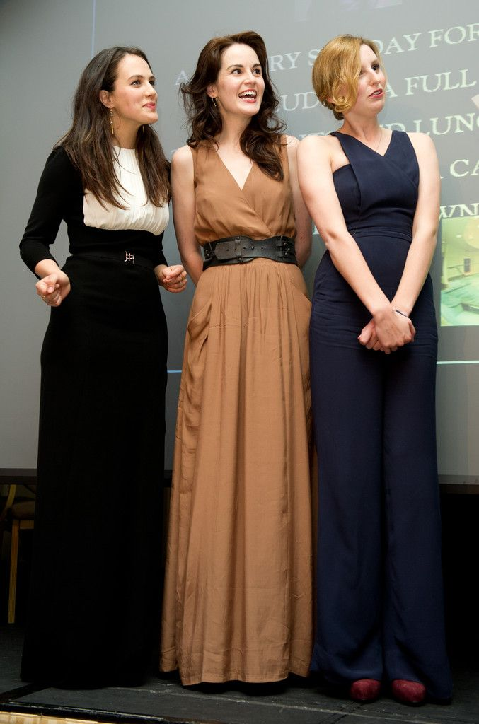 Downton Abbey: Mary, Edith, and Sybil Crowley (Michelle Dockery, Laura Carmichael, and Jessica Brown Findlay)