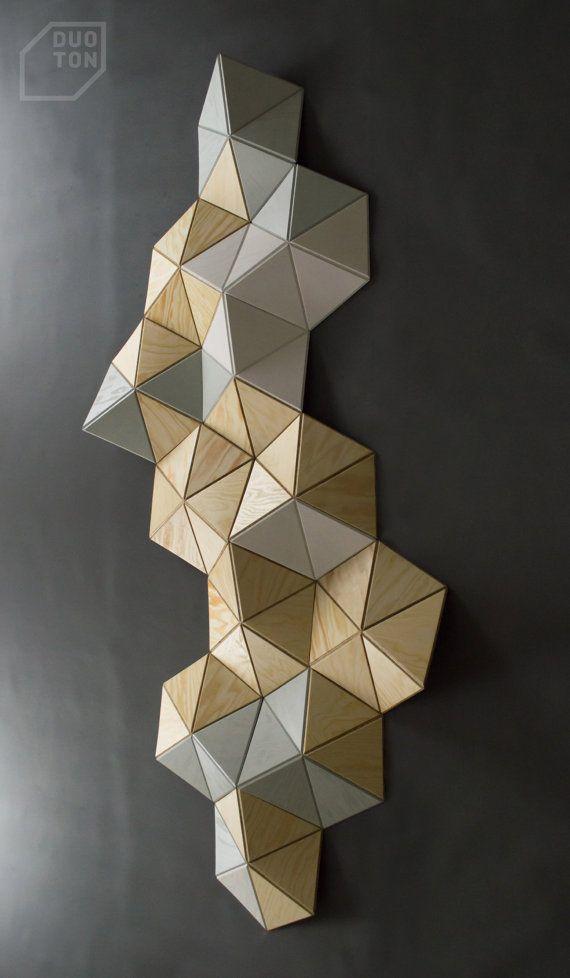 CELL —  12 pcs. wall sculpture, Decor, Pattern, Geometric, Hexagon
