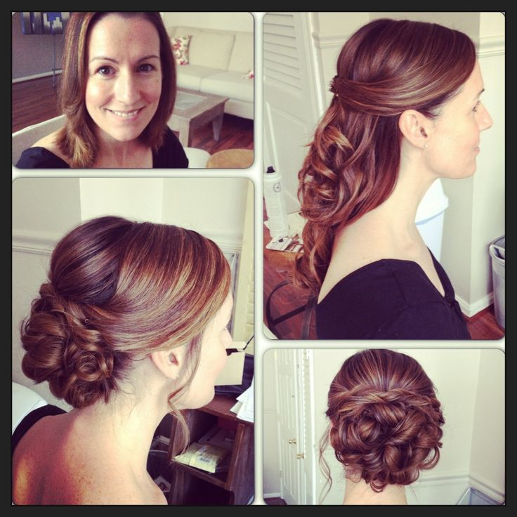 before and after bridal hairstyle with extensions added