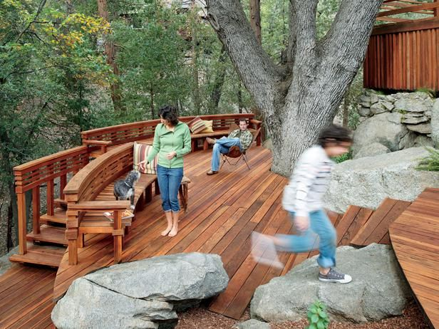Steep terrain neednt be a deterrent to outdoor living This amazing