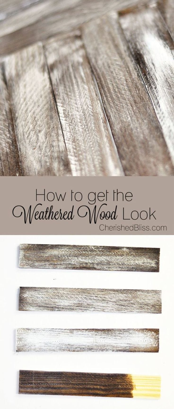 Make new wood look OLD with this tutorial on how to Weather Wood.