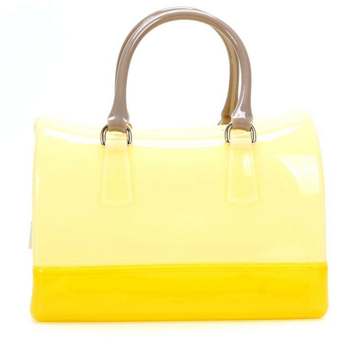 wardow.com - #Furla, Candy Handtasche gelb 30 cm